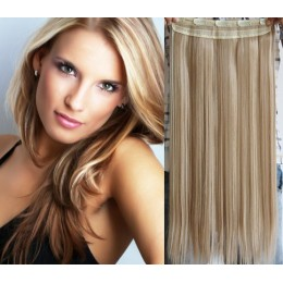 20 inches one piece full head 5 clips clip in hair weft extensions straight – black