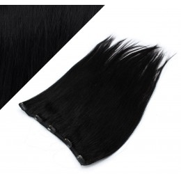 Clip in REMY vlasový pás 63cm rovný - čierna