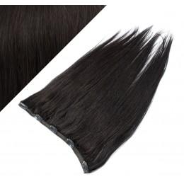 Clip in REMY vlasový pás 63cm rovný - prírodná čierna