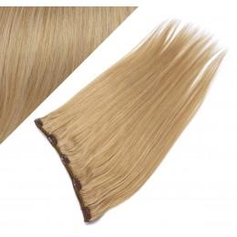Clip in REMY vlasový pás 63cm rovný - prírodná blond