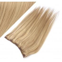 Clip in REMY vlasový pás 63cm rovný – prírodná / svetlejšia blond