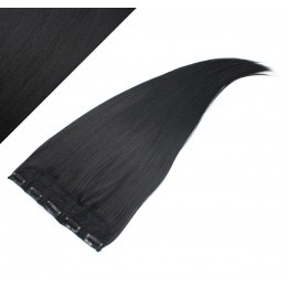 Clip in pás japonský kanekalon 63cm rovný - čierna
