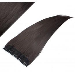 Clip in pás japonský kanekalon 63cm rovný - prírodná čierna