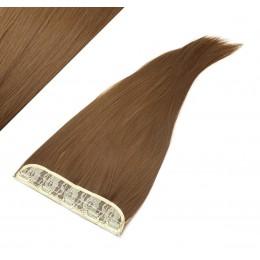 Clip in pás japonský kanekalon 63cm rovný - stredne hnedá