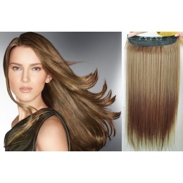 24˝ one piece full head clip in kanekalon weft extension straight – black