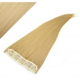 Clip in pás japonský kanekalon 63cm rovný - prírodná blond