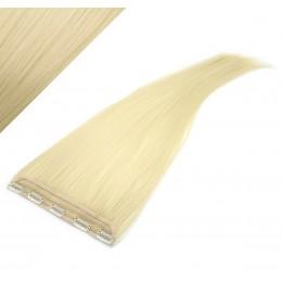 Clip in pás japonský kanekalon 63cm rovný - najsvetlejšia blond