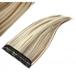 Clip in pás japonský kanekalon 63cm rovný - svetlý melír