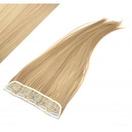 Clip in pás japonský kanekalon 63cm rovný - prírodná / svetlejšia blond