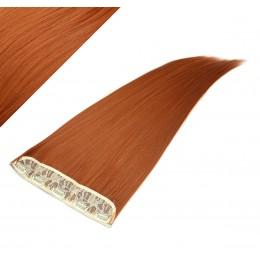 Clip in pás japonský kanekalon 63cm rovný - medená