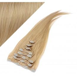 Clip in vlasy 63cm 100% ľudské - REMY 120g - PRÍRODNÁ BLOND
