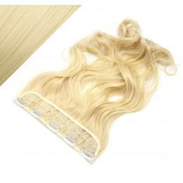 Clip in pás japonský kanekalon 63cm vlnitý - najsvetlejšia blond