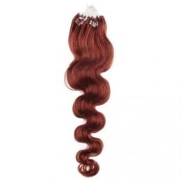 Vlasy pre metódu Micro Ring / Easy Loop / Easy Ring 50cm vlnité - medená
