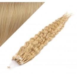 Vlasy pre metódu Micro Ring / Easy Loop / Easy Ring 50cm kučeravé - prírodná blond
