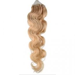 Vlasy pre metódu Micro Ring / Easy Loop / Easy Ring 60cm vlnité - prírodná blond