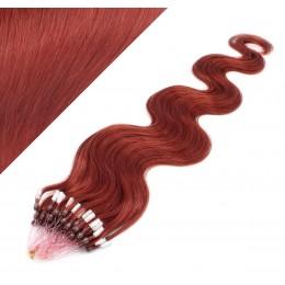 Vlasy pre metódu Micro Ring / Easy Loop / Easy Ring 60cm vlnité - medená