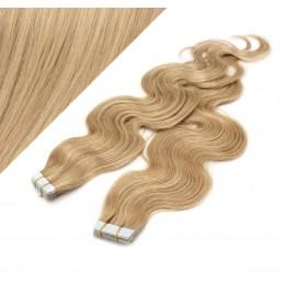Vlasy pre metódu Tapex / Tape Hair / Tape IN 60cm vlnité - prírodná / svetlejšia blond