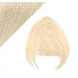 Clip in ofina - REMY 100% ľudské vlasy - PLATINA
