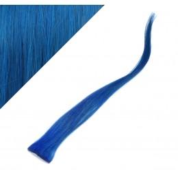 Clip in pramienok - REMY 100% ľudské vlasy, 6ks - modrá