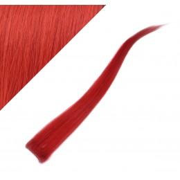 Clip in pramienok - REMY 100% ľudské vlasy, 6ks - červená