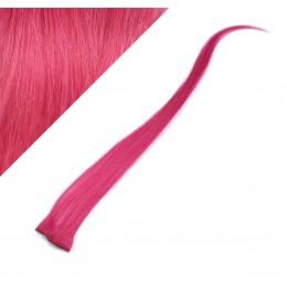 Clip in pramienok - REMY 100% ľudské vlasy, 6ks - ružová