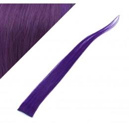 Clip in pramienok - REMY 100% ľudské vlasy, 6ks - fialová