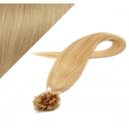 Vlasy európskeho typu na predlžovanie keratínom 40cm - prírodná blond